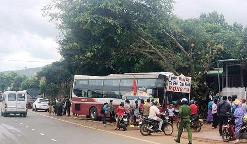 Lâm Đồng: Xe khách mất lái, lao thẳng vào xe máy chạy ngược chiều - Ảnh 1