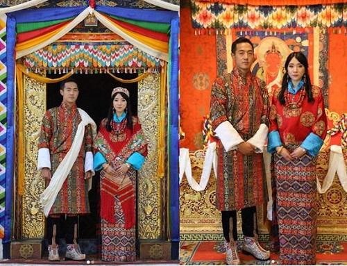 """Nàng công chúa """"vạn người mê"""" của Bhutan bất ngờ lên xe hoa, nhan sắc cô dâu, chú rể gây chú ý - Ảnh 1"""