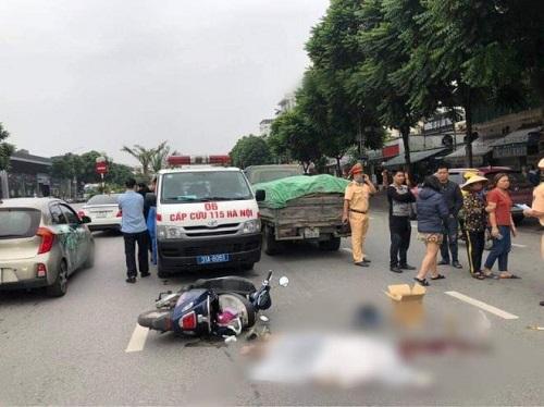 Hà Nội: Va chạm với xe tải, nữ sinh 15 tuổi tử vong thương tâm - Ảnh 1