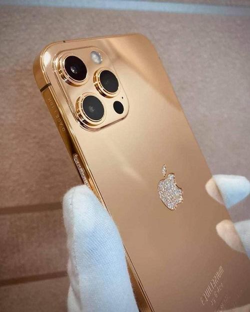 Cận cảnh phiên bản mạ vàng 18K, đính kim cương lấp lánh của iPhone 12 Pro Max - Ảnh 4