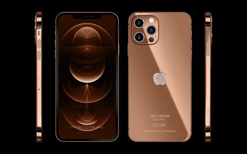 Cận cảnh phiên bản mạ vàng 18K, đính kim cương lấp lánh của iPhone 12 Pro Max - Ảnh 2
