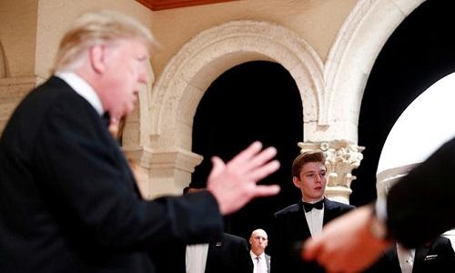 """Loạt ảnh """"Hoàng tử Nhà Trắng"""" Barron Trump, xứng danh """"tiểu soái ca"""" - Ảnh 7"""