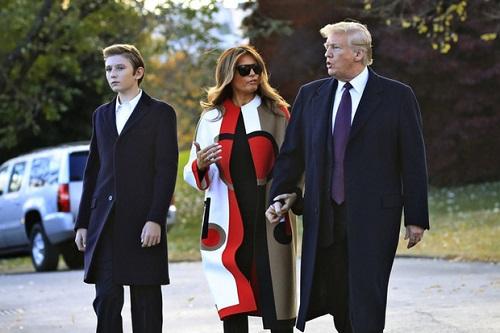 """Loạt ảnh """"Hoàng tử Nhà Trắng"""" Barron Trump, xứng danh """"tiểu soái ca"""" - Ảnh 9"""