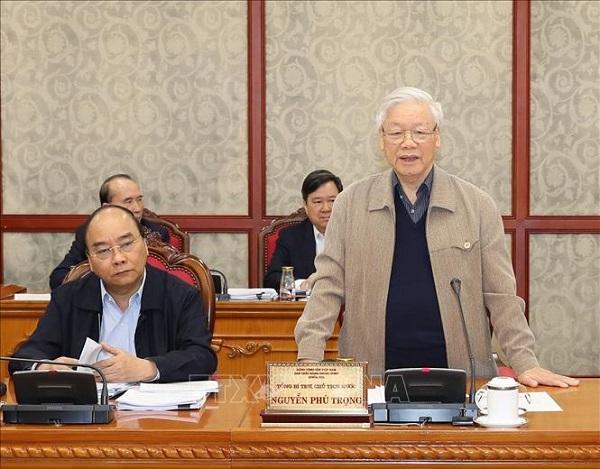 Tổng Bí thư, Chủ tịch nước chủ trì họp tiếp thu ý kiến hoàn thiện các dự thảo văn kiện của Đảng - Ảnh 1
