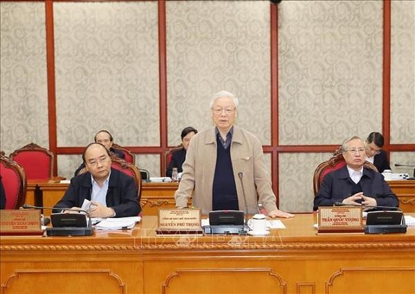 Tổng Bí thư, Chủ tịch nước chủ trì họp tiếp thu ý kiến hoàn thiện các dự thảo văn kiện của Đảng - Ảnh 2