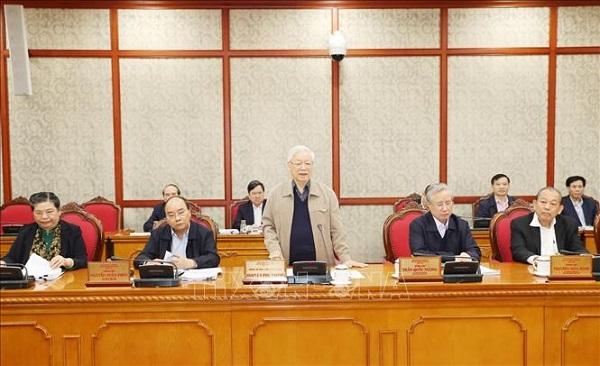 Tổng Bí thư, Chủ tịch nước chủ trì họp tiếp thu ý kiến hoàn thiện các dự thảo văn kiện của Đảng - Ảnh 3