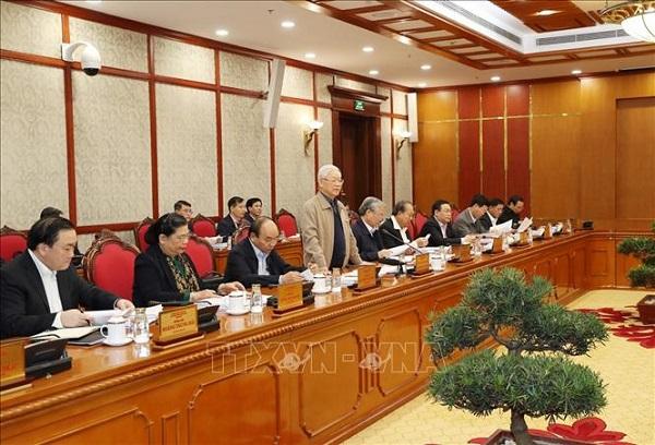 Tổng Bí thư, Chủ tịch nước chủ trì họp tiếp thu ý kiến hoàn thiện các dự thảo văn kiện của Đảng - Ảnh 5