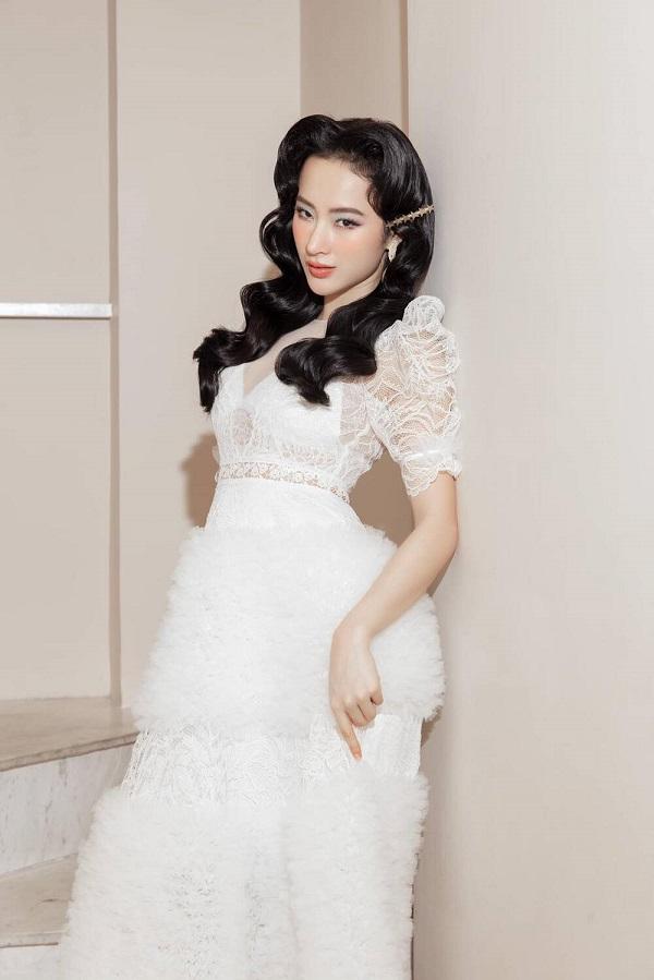 """Angela Phương Trinh hóa quý cô đài các, """"đốn tim"""" dân mạng với vẻ đẹp thoát tục trong váy trắng kiêu sa - Ảnh 3"""