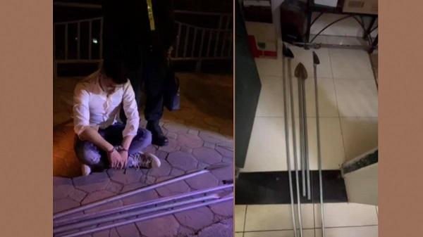 Hà Nội: Ngăn nhóm thanh niên mang hung khí đi đánh nhau giữa đêm - Ảnh 1