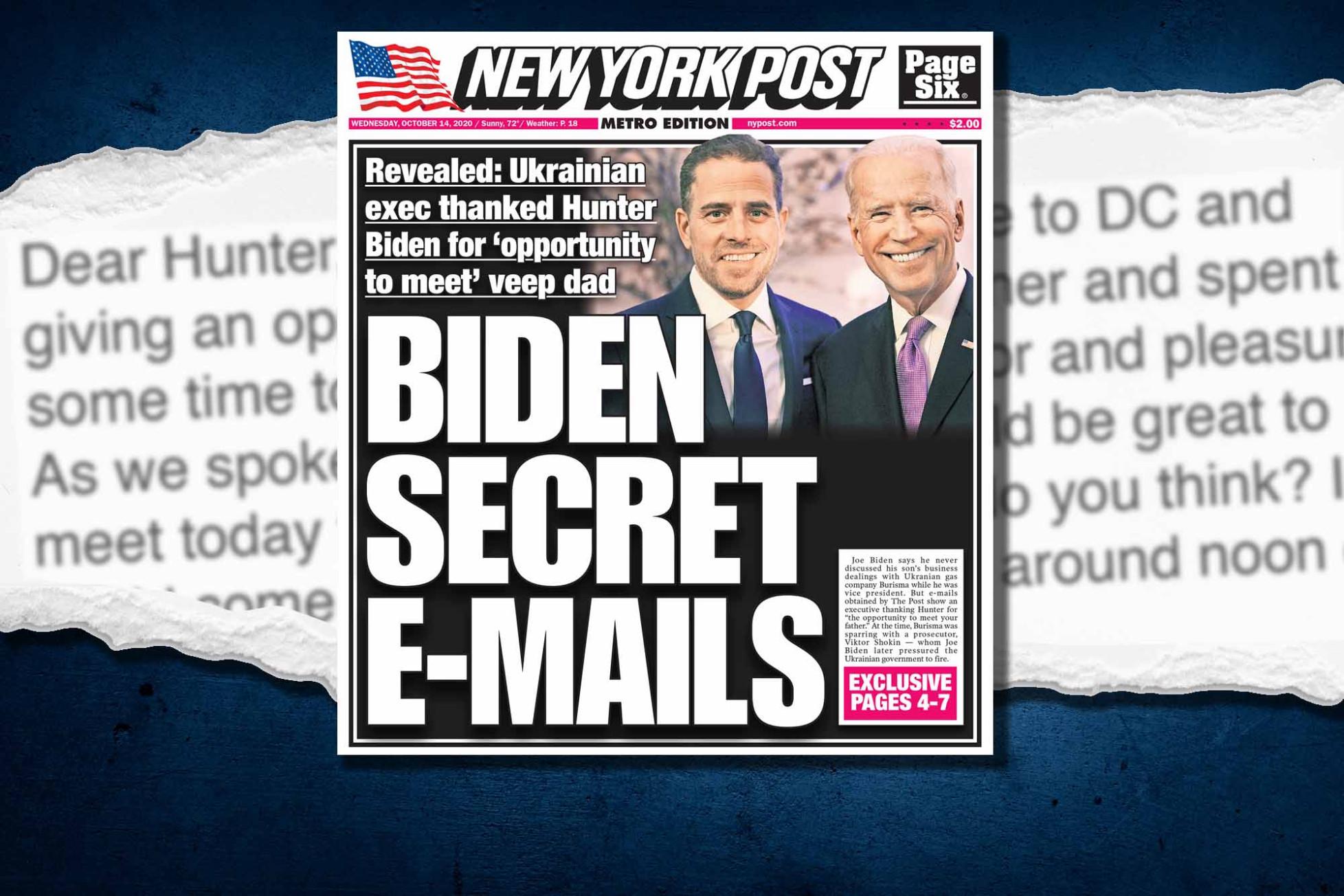 """Bầu cử Mỹ 2020: Lộ bằng chứng về """"mặt tối"""" của cha con ông Joe Biden tại Ukraine - Ảnh 1"""