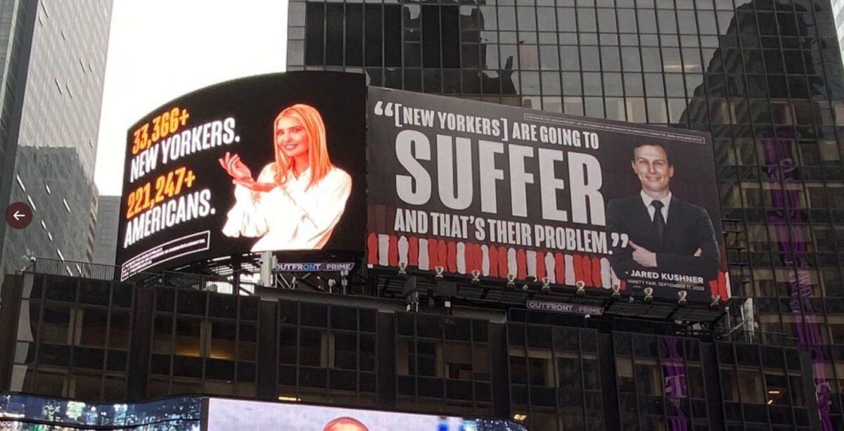 Bầu cử Mỹ 2020: Ivanka dọa kiện bảng quảng cáo của nhóm đối lập với ông Trump - Ảnh 1