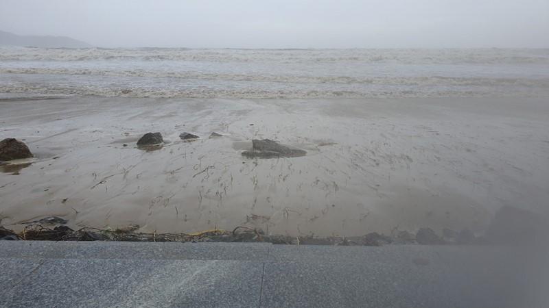 Đà Nẵng: Đường phố ngổn ngang, bờ biển tan hoang sau bão số 9 - Ảnh 2
