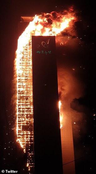 """Ảnh: Đám cháy lớn """"nuốt trọn"""" tòa chung cư 33 tầng ở Hàn Quốc  - Ảnh 4"""