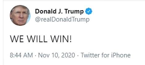 Tổng thống Trump tiếp tục khẳng định chiến thắng sẽ đến trong tuần tới  - Ảnh 1