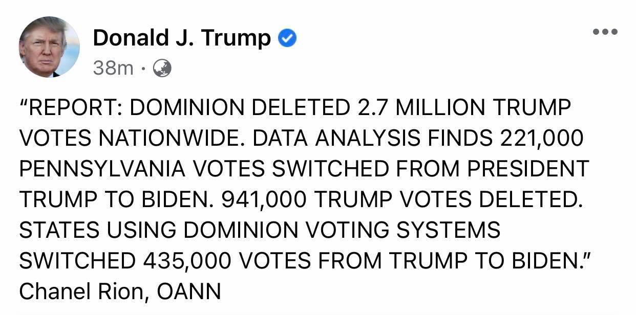 """Tổng thống Trump bất ngờ tố bị hệ thống kiểm phiếu """"trừ 2,7 triệu phiếu bầu toàn quốc""""  - Ảnh 1"""