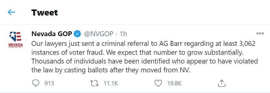 Đảng Cộng hòa tuyên bố chuyển hàng nghìn lá phiếu gian lận lên Bộ trưởng Tư pháp Mỹ - Ảnh 1
