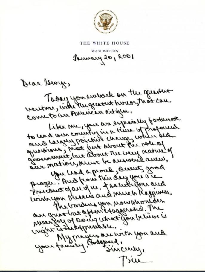 Những lá thư chuyển giao quyền lực hòa bình của các đời tổng thống trước - Ảnh 2
