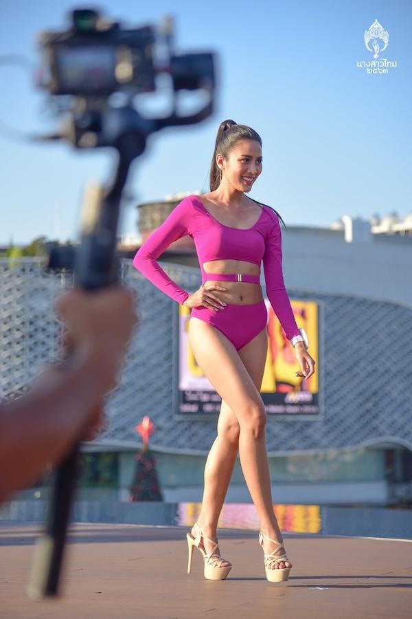"""Các thí sinh Hoa hậu Thái Lan """"thả dáng"""" nóng bỏng trong phần thi áo tắm - Ảnh 5"""