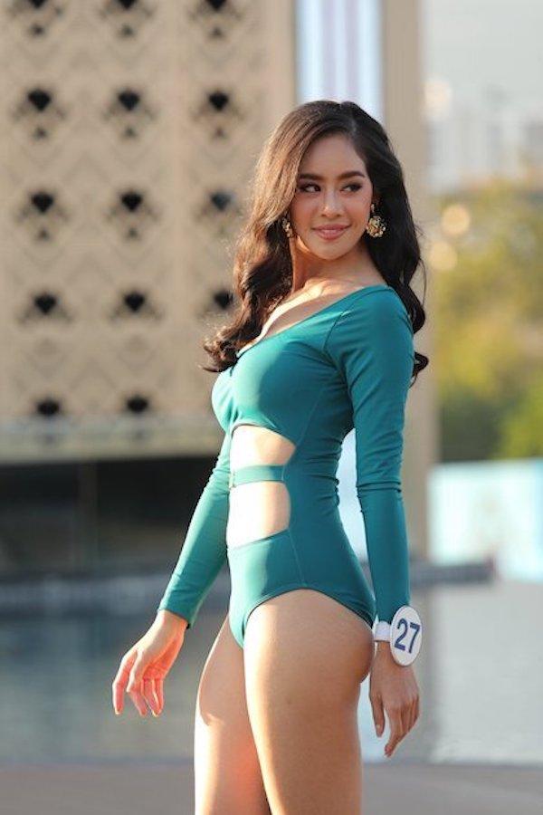 """Các thí sinh Hoa hậu Thái Lan """"thả dáng"""" nóng bỏng trong phần thi áo tắm - Ảnh 6"""