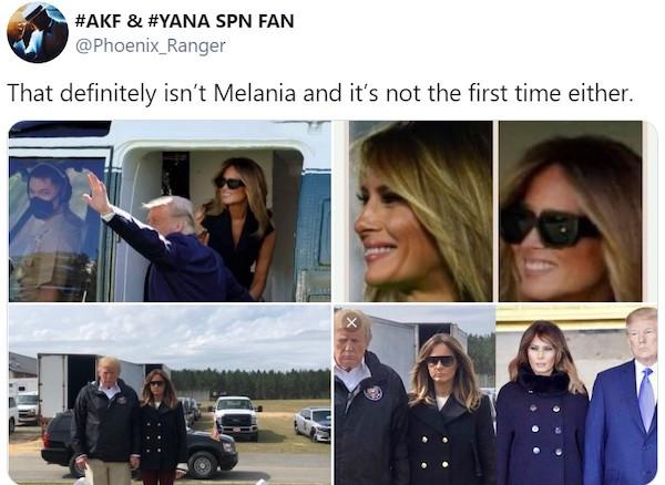 """Đệ nhất phu nhân Melania Trump bị nghi dùng """"thế thân"""" vì bức ảnh nắm tay chồng - Ảnh 4"""