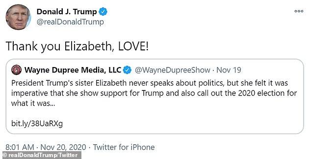 """Thanh niên 21 tuổi già danh chị gái ông Trump, """"lừa"""" được tổng thống chia sẻ bài viết - Ảnh 2"""