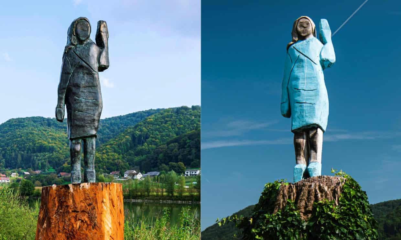 Khánh thành bức tượng đồng mới của Đệ nhất phu nhân Melania tại quê nhà Slovenia - Ảnh 2