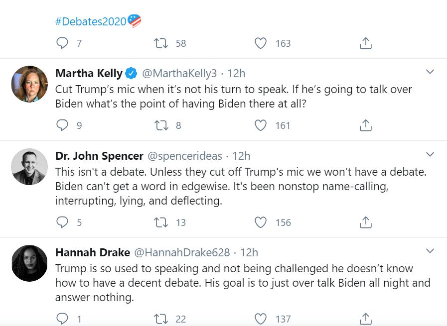 """Twitter """"bùng nổ"""" sau màn tranh luận """"hỗn loạn"""" giữa hai ứng viên tổng thống Mỹ  - Ảnh 3"""