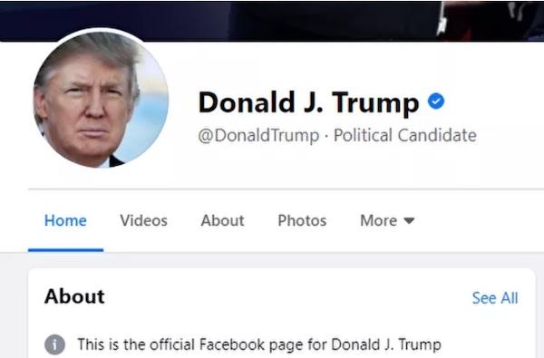 Bỏ chặn tài khoản Tổng thống Trump, Facebook và Twitter không quên đổi luôn chức danh - Ảnh 1