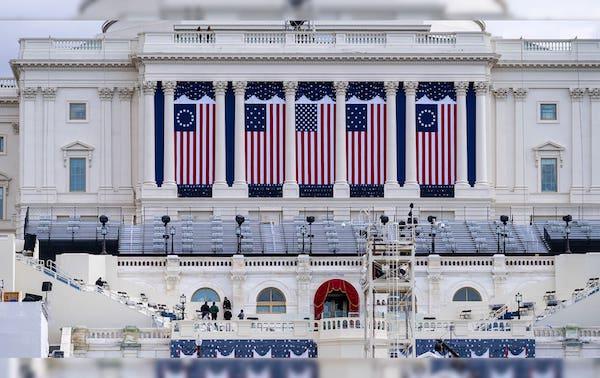 """Thủ đô Washington """"căng mình"""" trước thềm lễ nhậm chức của Tổng thống đắc cử Joe Biden - Ảnh 10"""