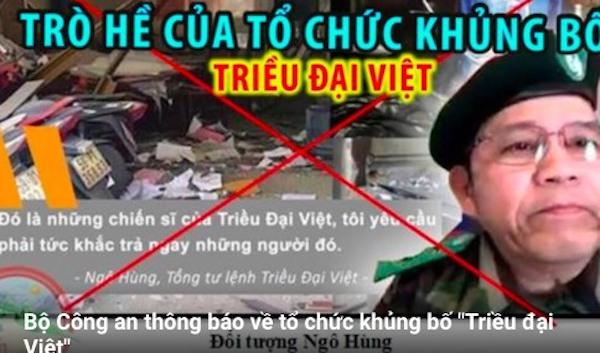 """Bộ Công an cảnh báo về tổ chức khủng bố nguy hiểm """"Triều đại Việt"""" - Ảnh 1"""