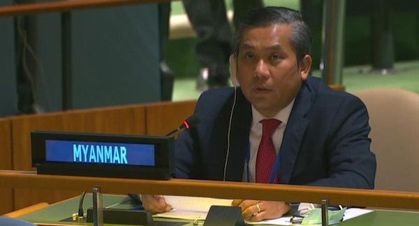 """Bị sa thải vì """"phản bội đất nước"""", đại sứ Myanmar tại Liên hợp quốc thề chiến đấu tới cùng - Ảnh 1"""