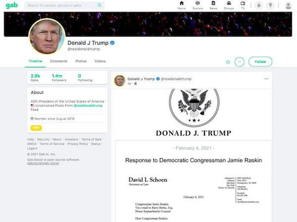 """Cựu Tổng thống Trump """"tái xuất"""", lần đầu đăng bài trên mạng xã hội sau đúng 1 tháng - Ảnh 1"""