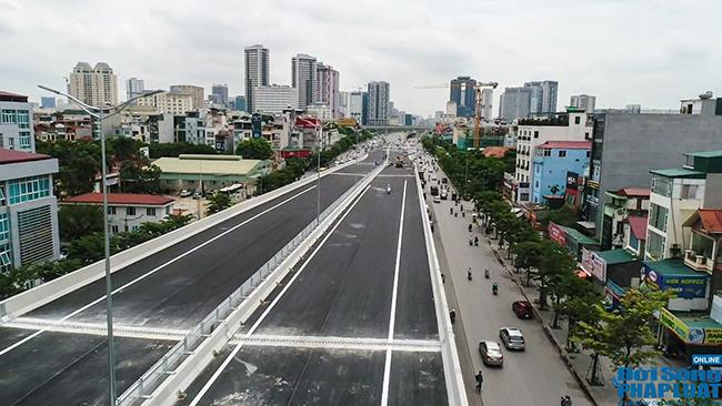 Cận cảnh cầu cạn 5.300 tỷ đồng ở Hà Nội, có làn thiết kế tốc độ lên đến 100km/h trước ngày thông xe - Ảnh 6