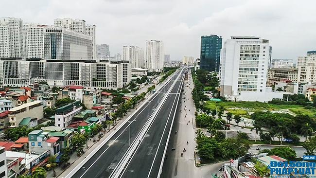 Cận cảnh cầu cạn 5.300 tỷ đồng ở Hà Nội, có làn thiết kế tốc độ lên đến 100km/h trước ngày thông xe - Ảnh 9