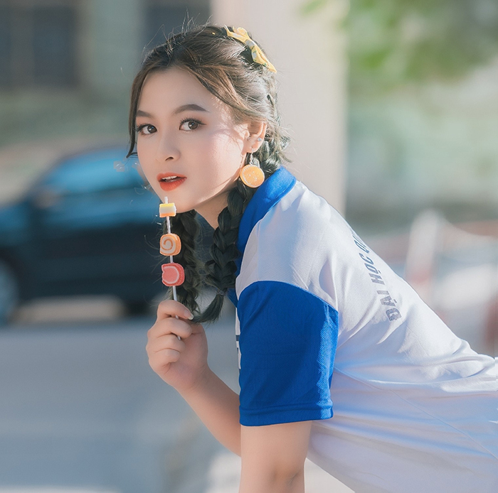 Đại sứ truyền thông khoa Quốc tế ĐH Quốc gia: Xinh như hotgirl, đam mê chơi chứng khoán, hâm mộ Mai Phương Thuý - Ảnh 3