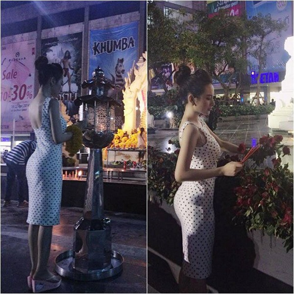 """Sao Việt bị ném đã dữ dội vì ăn mặc """"thiếu vải"""" đi chùa: Minh Tú diện áo quá ngắn, Hoàng Thùy như không có quần - Ảnh 6"""