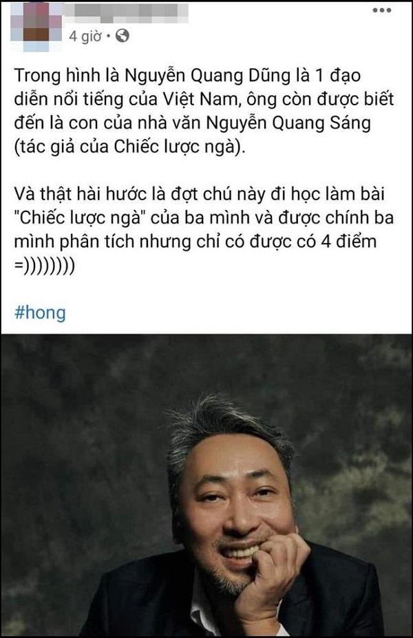 """Bố là nhà văn Nguyễn Quang Sáng nhưng lại bị 4 điểm phân tích tác phẩm """"Chiếc lược ngà"""", đạo diện Nguyễn Quang Dũng nói gì? - Ảnh 1"""