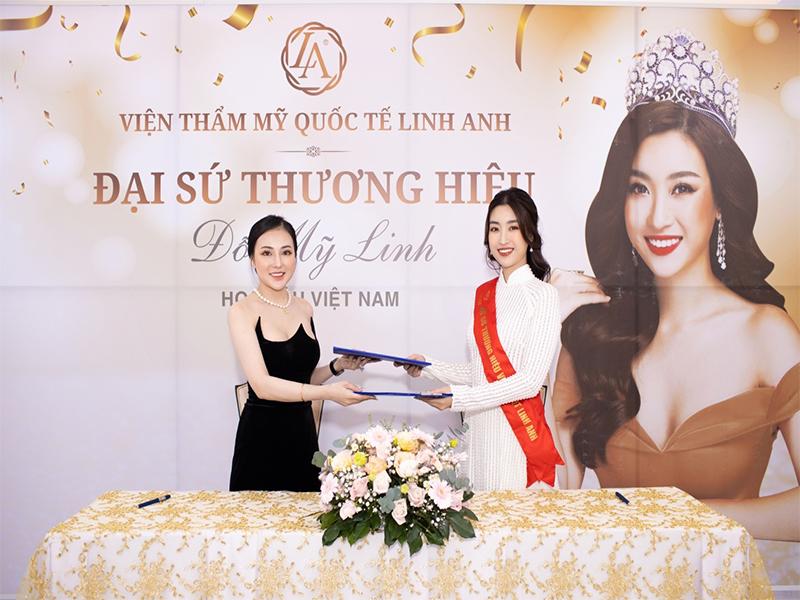 Hoa hậu Đỗ Mỹ Linh trở thành đại sứ thương hiệu Thẩm mỹ Quốc tế Linh Anh - Ảnh 4