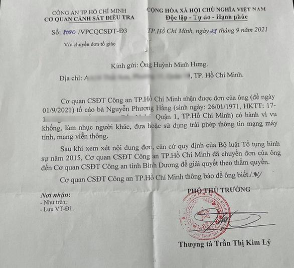 cong an tp hcm chuyen don cua dam vinh hung to cao ba phuong hang cho cong an binh duong dspl 2