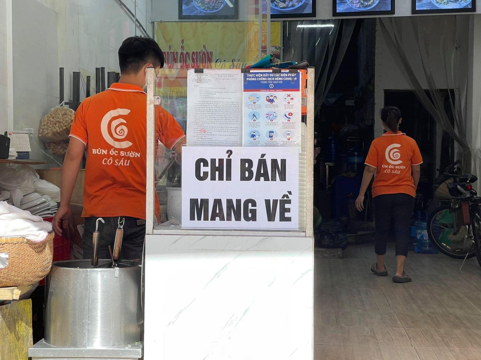 ha noi cho phep mo mot so co so kinh doanh quan an duoc ban mang ve tai mot so dia ban