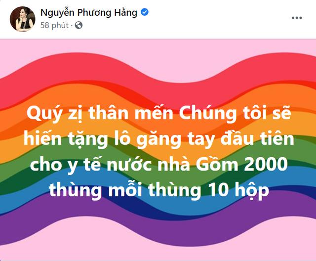 giua on ao sao ke kien tung ba phuong hang tang 20 000 hop gang tay y te cho tuyen dau chong dich 01