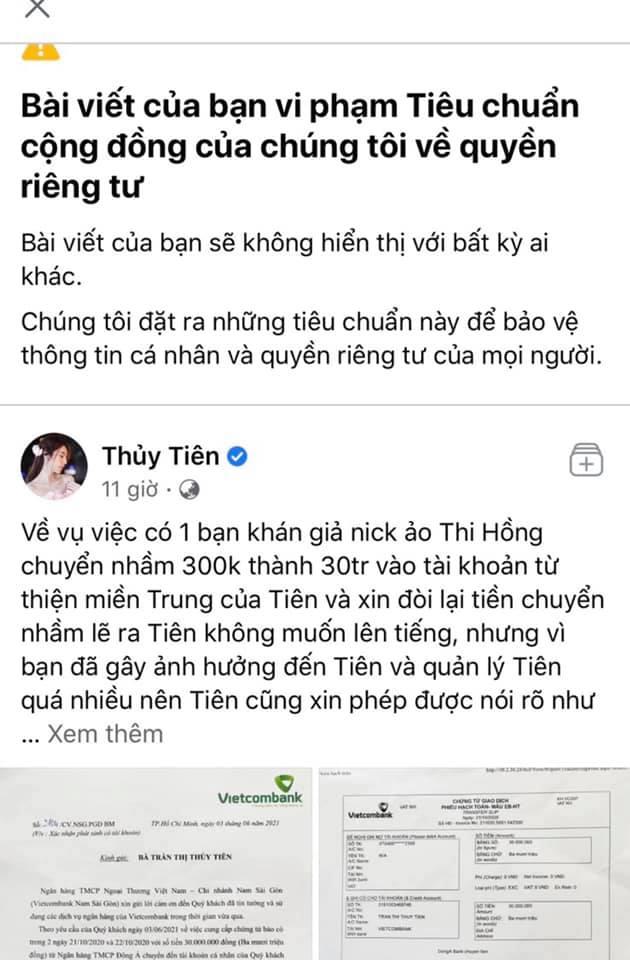 thuy tien len tieng xin loi hoan tien 30 trieu cho manh thuong quan chuyen nham2