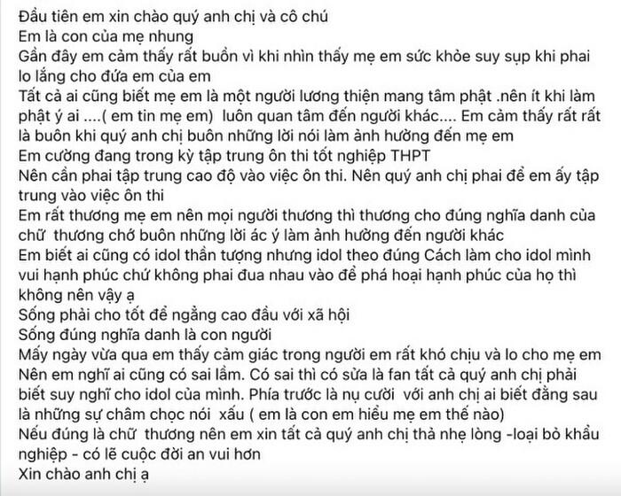 con gai nuoi phi nhung len tieng bao ve me viet tam thu nhan nhu ho van cuong sau loat lum xum4