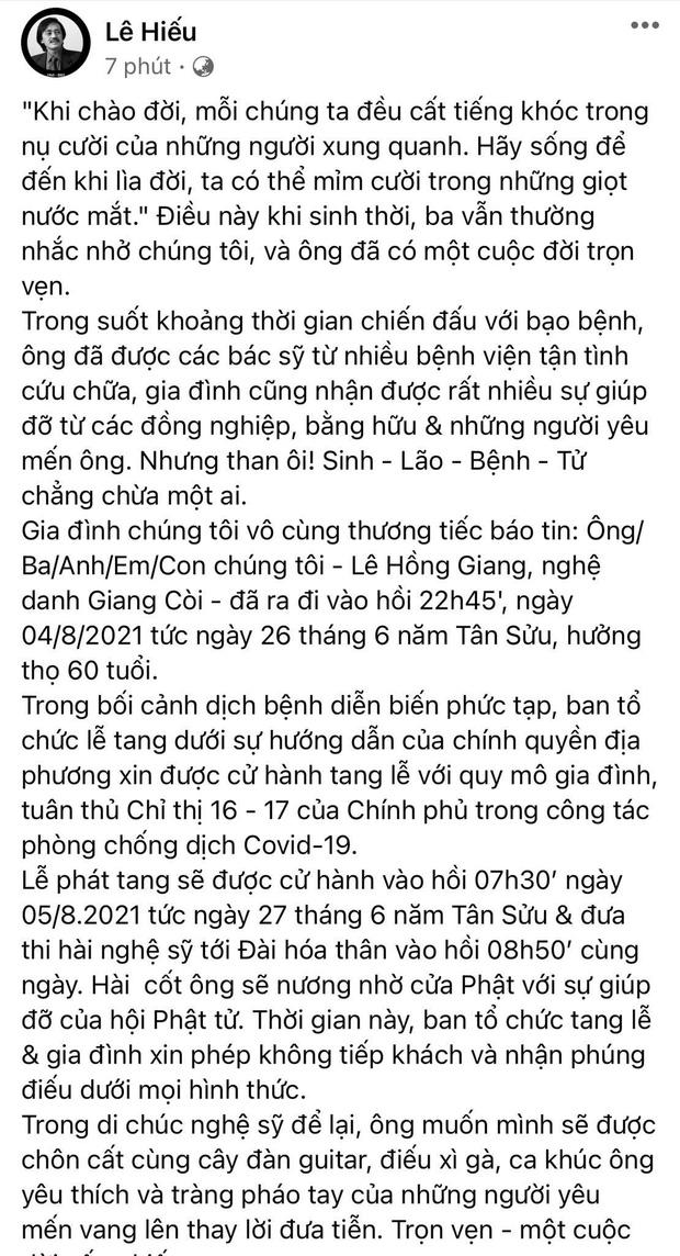 tin tuc giai tri moi nhat ngay 5 8 con trai ns giang coi thong bao cao pho chi phat tang4