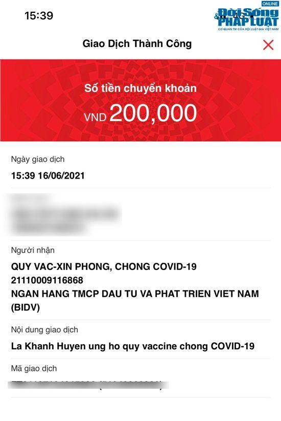 gioi tre ram ro khoe tin nhan ung ho quy vaccine covid 19 hanh phuc den tu nhung dieu nho be dspl 7censored