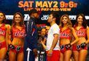 Thể thao 24h - Hơn 11.000 người xem Mayweather và Pacquiao kiểm tra cân nặng