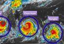 Tin thế giới - Hình ảnh 3 cơn bão đang cùng lúc hướng vào châu Á
