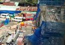 Tin trong nước - Vụ sập giàn giáo công trình 17 tầng: Do mưa to gió lớn?