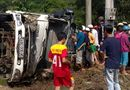 Tin trong nước - Lật xe tải chết 2000 con vịt, người dân mua ủng hộ tài xế