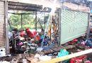 Tin trong nước -  Cháy chợ Nông sản Thủ Đức tại TP.HCM, 6 ki ốt bị thiêu rụi